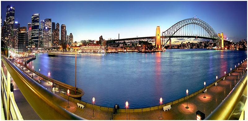 Photo Friday Challenge: Panorama<br /> 6th January 2006 <br /> <br /> Circular Quay, Sydney, Australia
