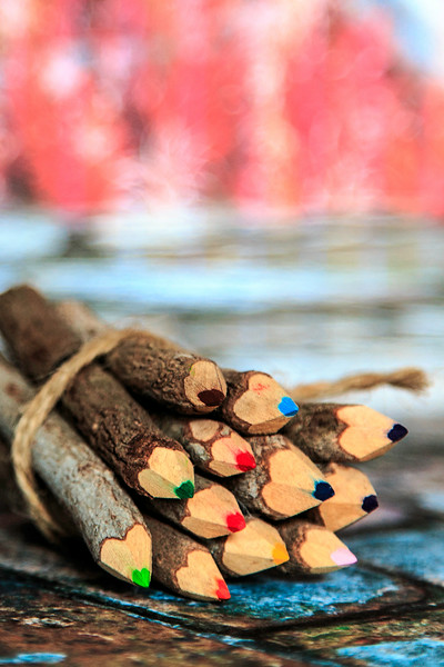 Colored Pencil Logs