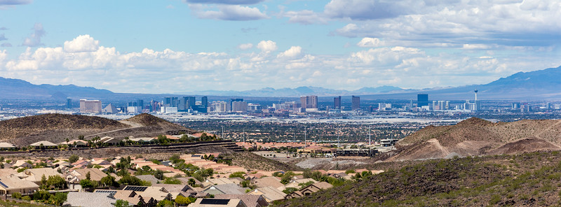 Pano from the mountains of southeast Vegas