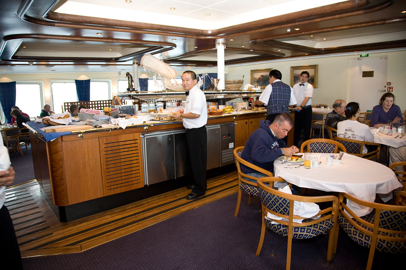 The food was always good. When crossing the Drake Passage I became sea sick, the only time I have ever done so and I hope it is the last.