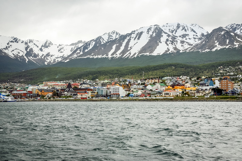 Ushuaia from the catamaran
