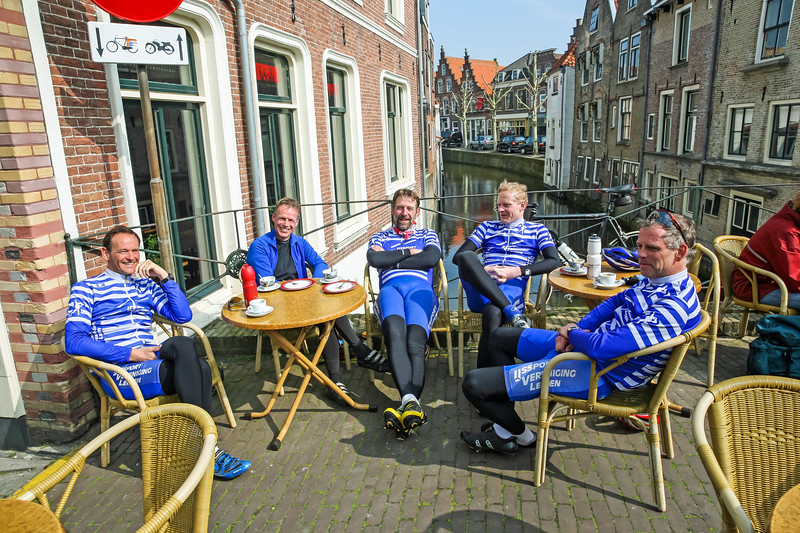 Bikers resting