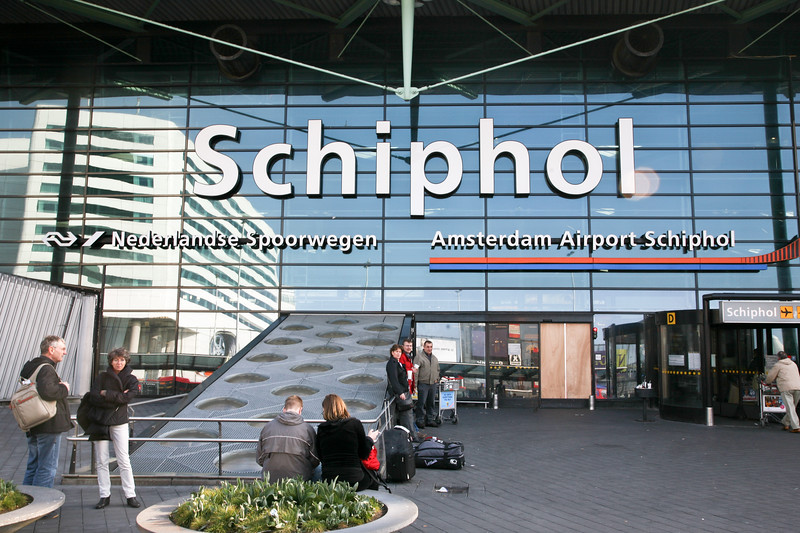 We landed in Amsterdam's Schiphol airport, one of Europe's busiest.