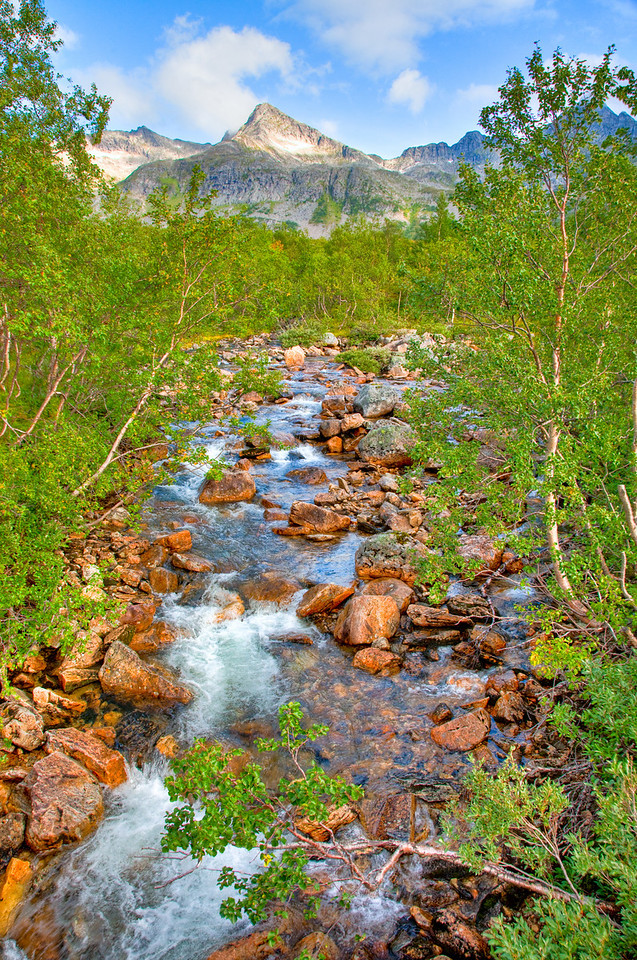Mountain stream outside Tromso