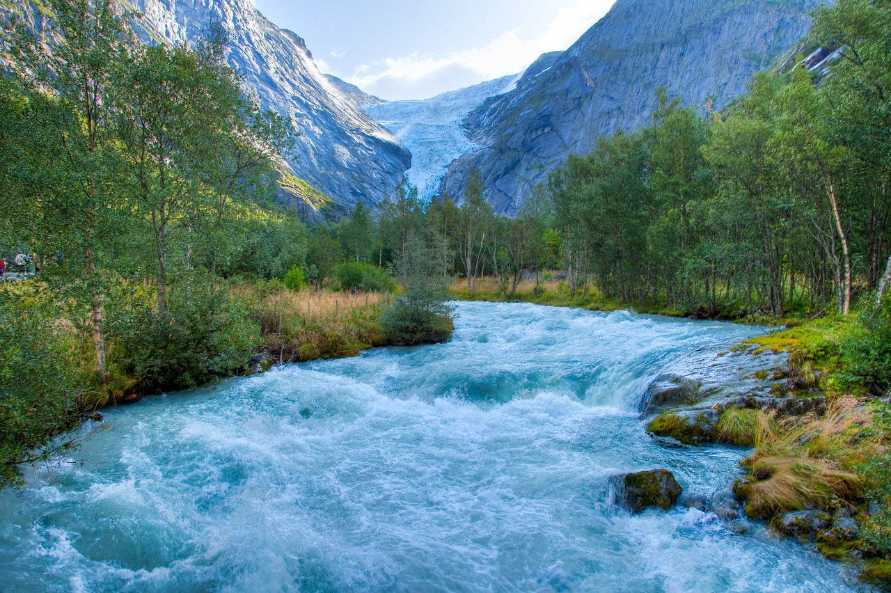 Briksdalsbreen Glacier runoff