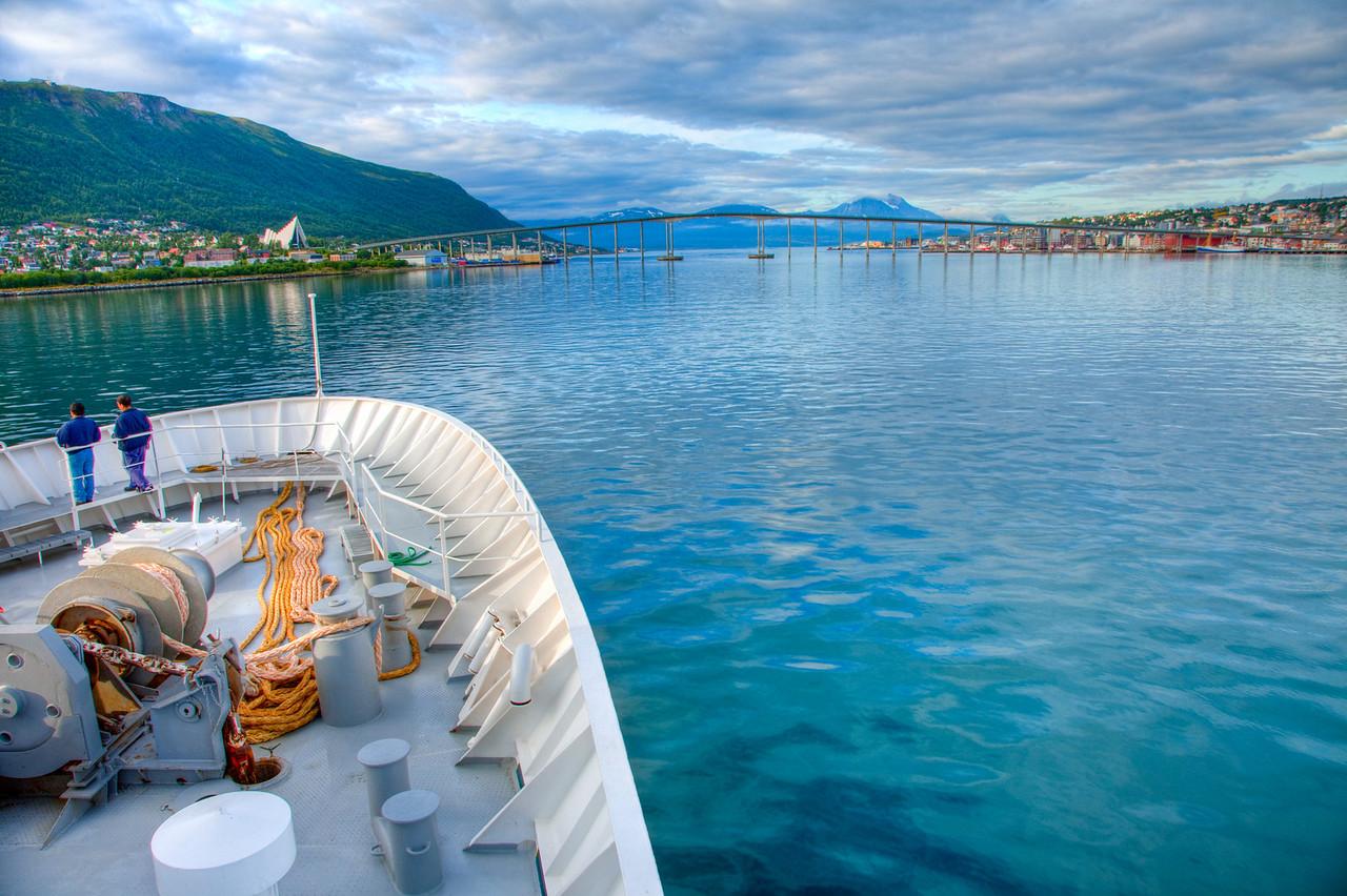 Entering Tromso