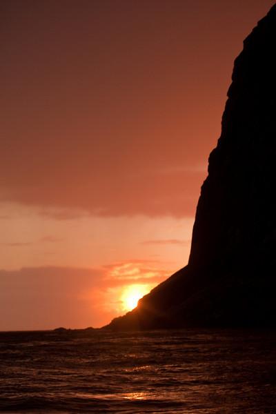 Setting sun, Lafoten Island