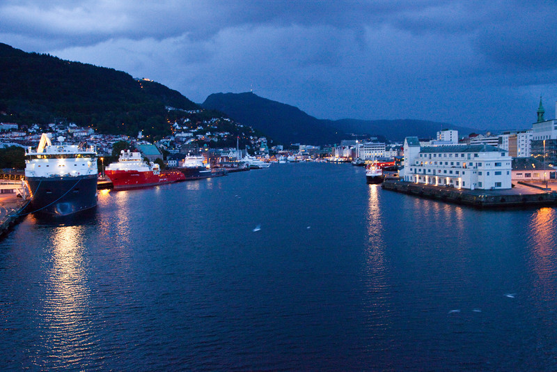 Bergen, Norway before sunrise