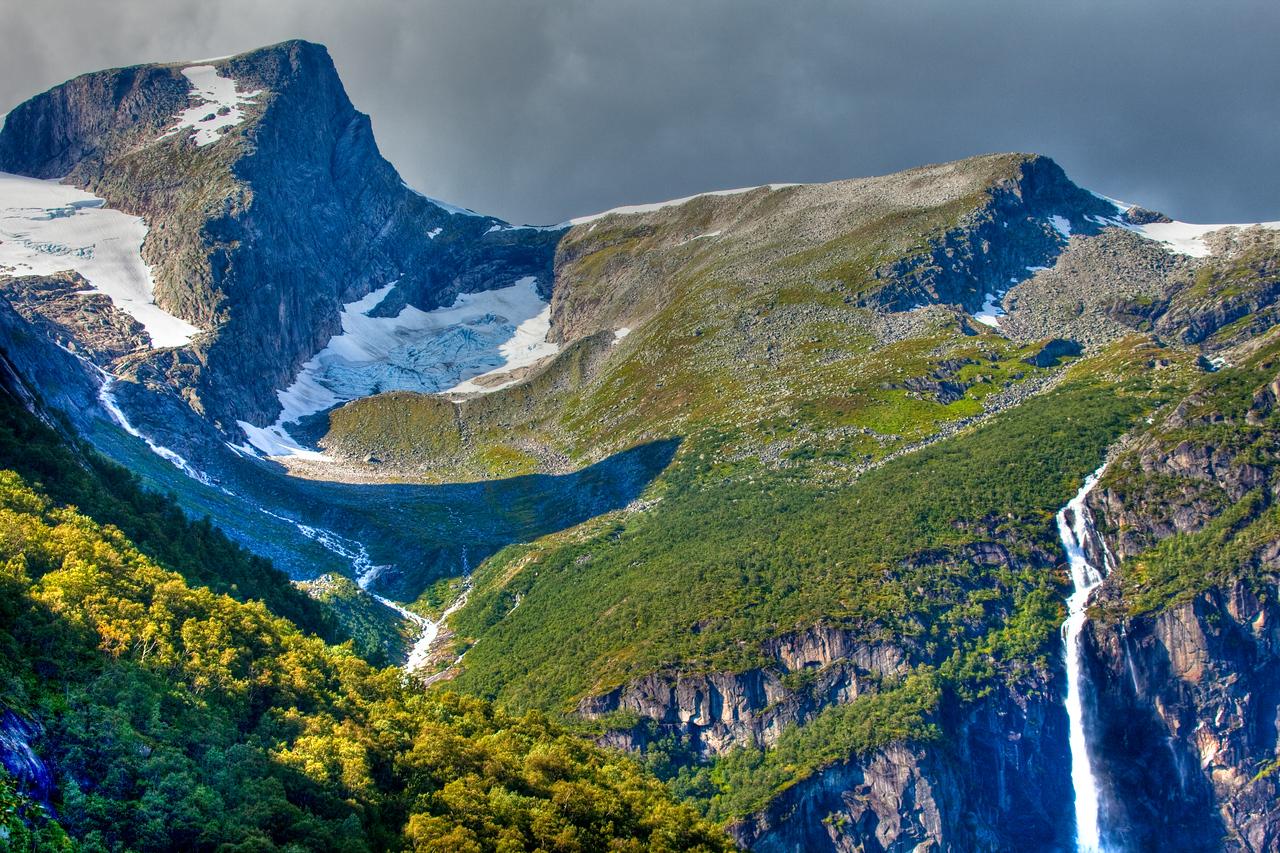 Near Briksdalsbreen Glacier