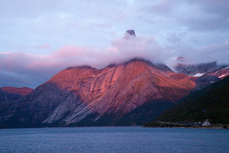 Sunset at Trollfjord