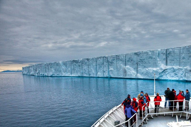 An enormous glacier in Nordaustlandet, Svalbard.
