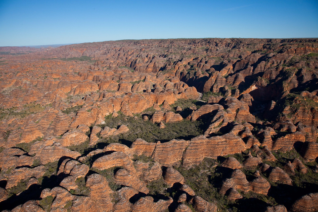 A helicopter perspective of the beautiful Bungle Bungle