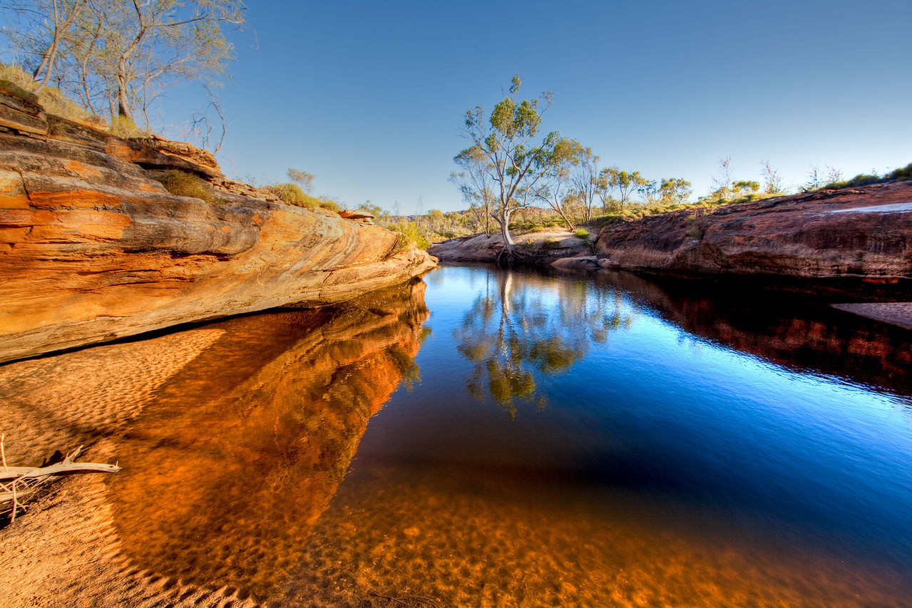 Reflective water hole in the Bungles