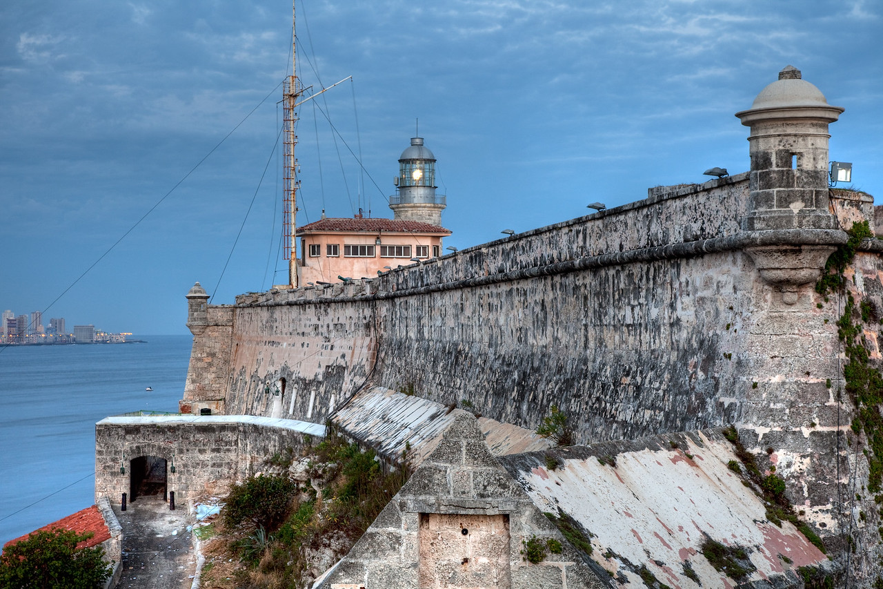 The fortress, Morro Castle,  guarding the entry to the City.