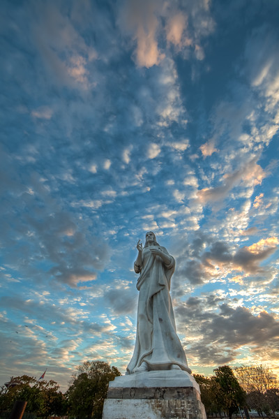Christ of Havana overlooking Havana Harbor.