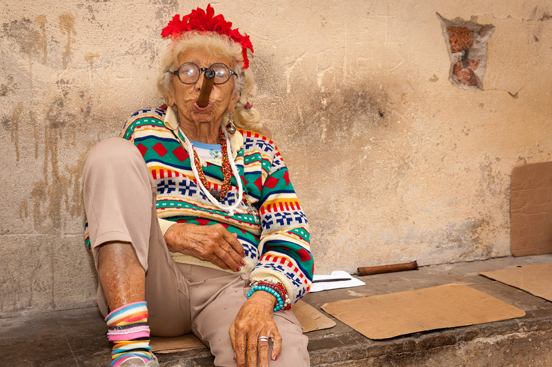 This woman was featured in a U.S. photo magazine that I had seen just before going to Cuba. I was stunned when I saw her on the street in person.