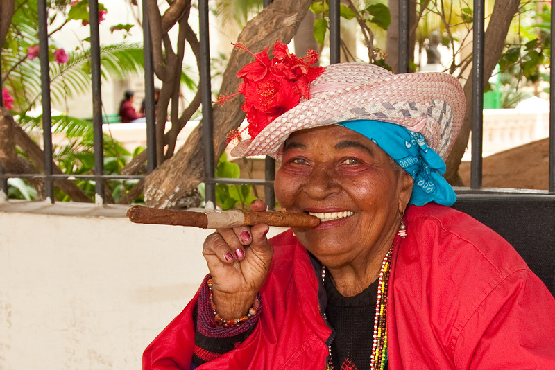 Of course we know that Cubans like their cigars, but I didn't realize that the women like them too.