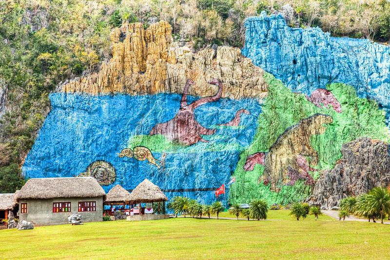 Mural de la Prehistoria at Pinar L Rio