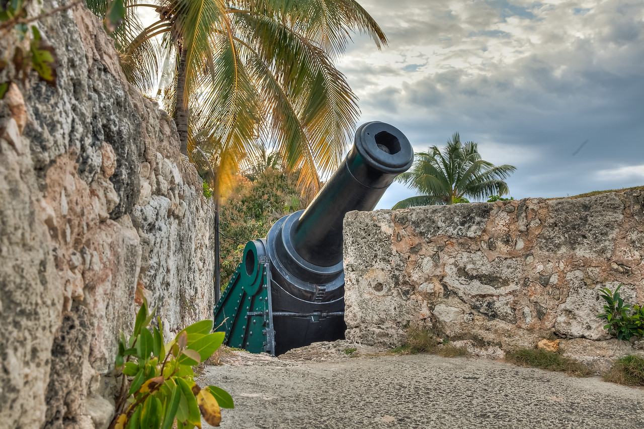 A canon at the fortress.