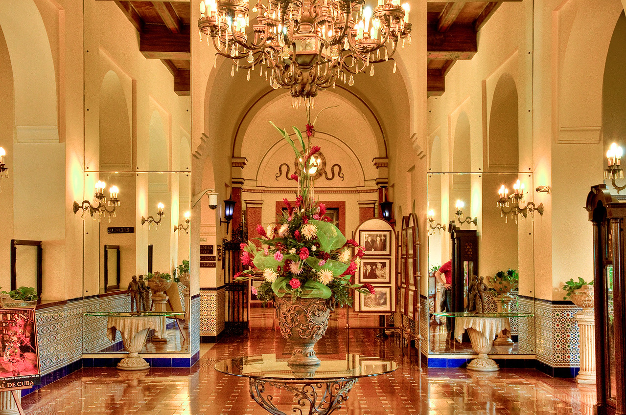 Part of the lobby of the Hotel Nacional.