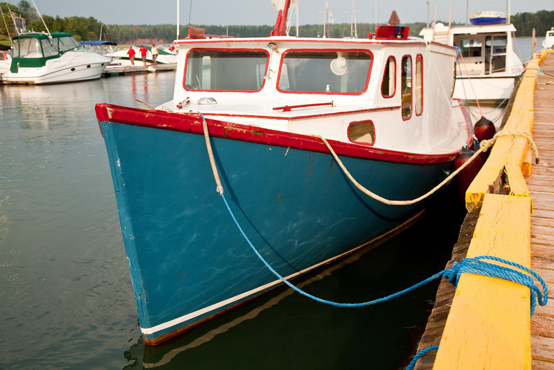 Colorful lobster boat