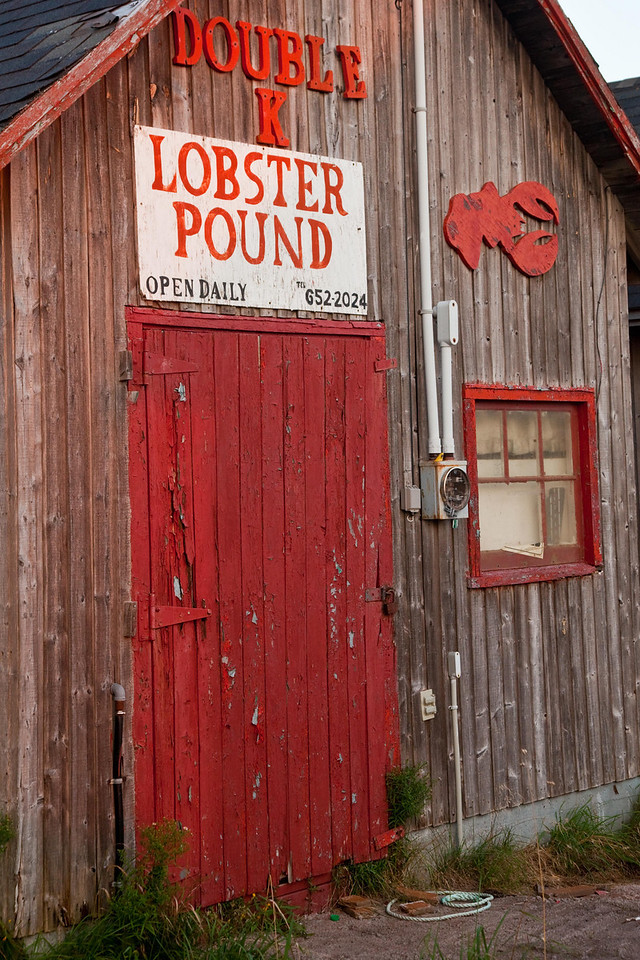 Weathered and colorful lobster pound