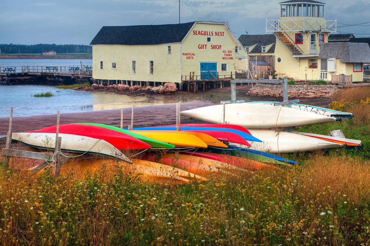 Kayaks at North Rustico Harbor