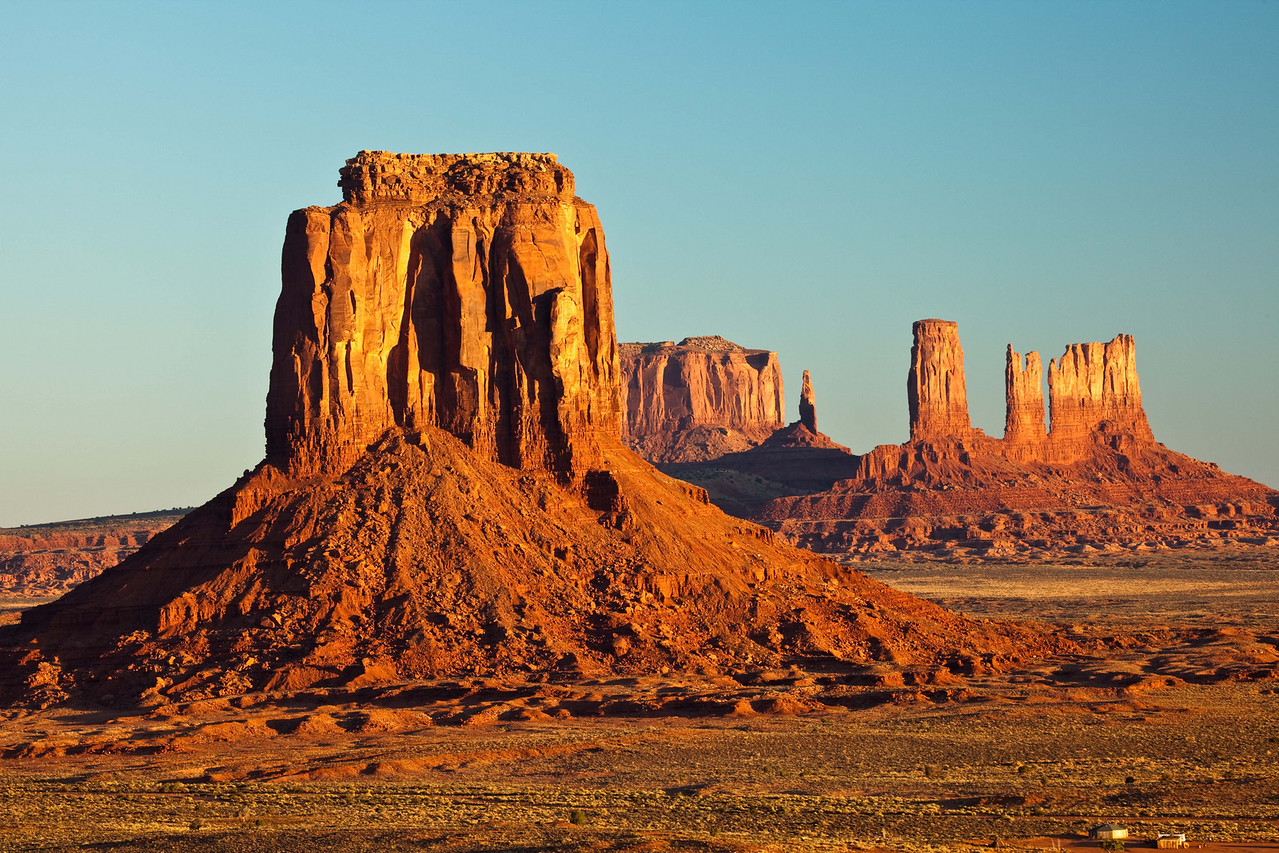 Majestic monuments on the Navajo reservation in Monument Valley