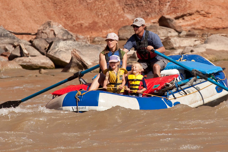 Rafting on the mighty Colorado River.