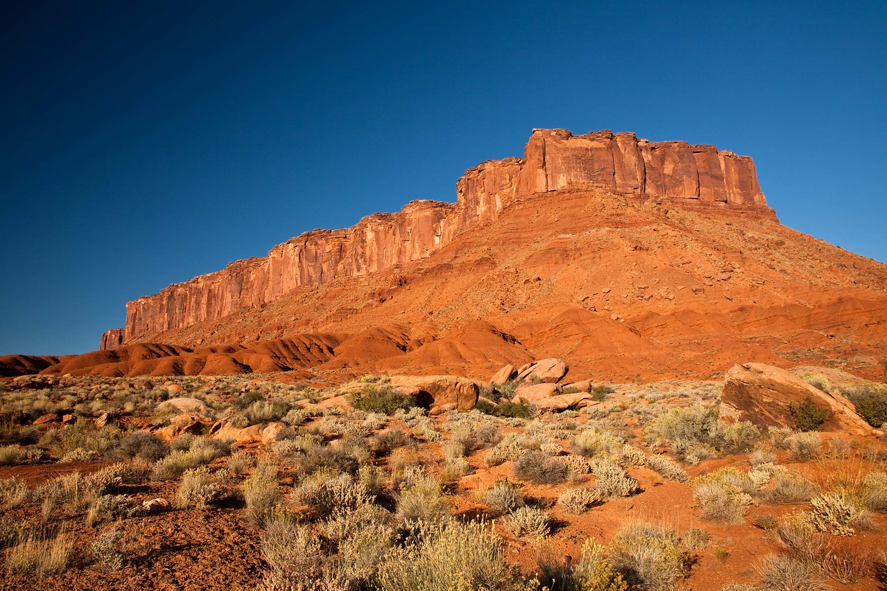 Magnificent butte on Castleton Road east of Moab