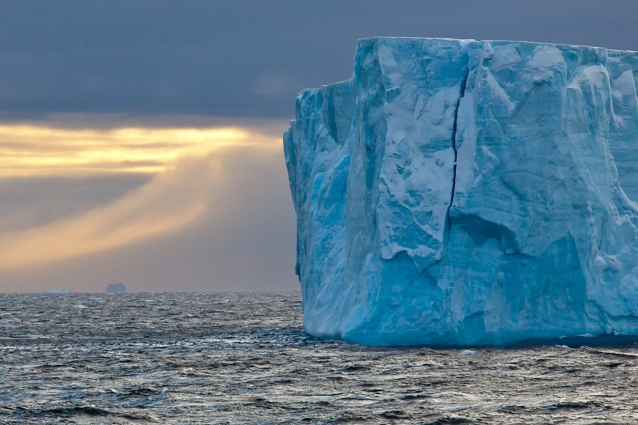 Icebergs much taller than our ship.