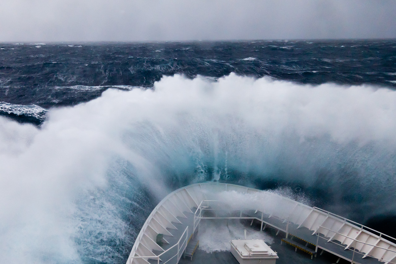 We had some rough seas on our trip from South Georgia to the Antarctic Peninsula.