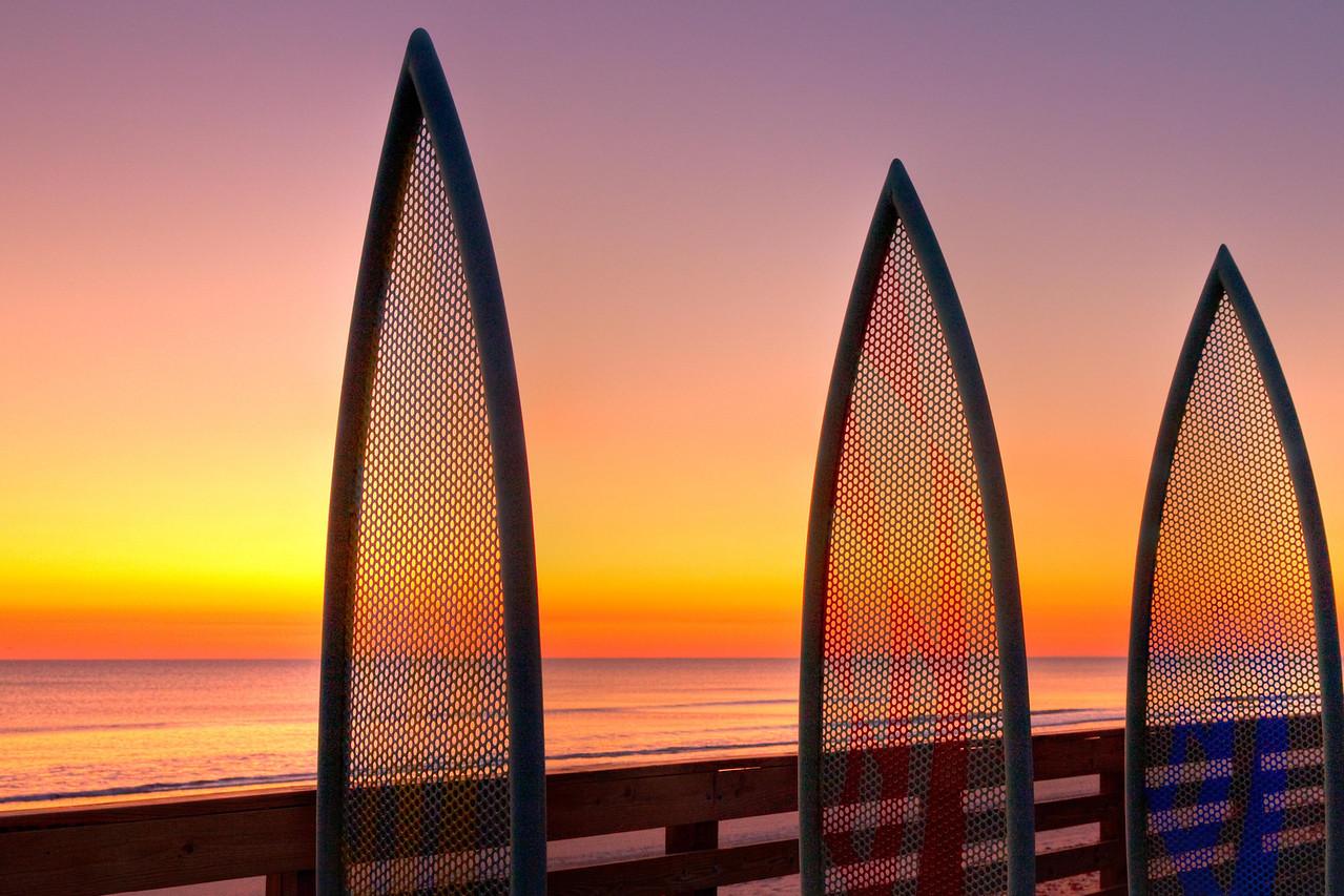 Surfboard symbols, Ormond Beach
