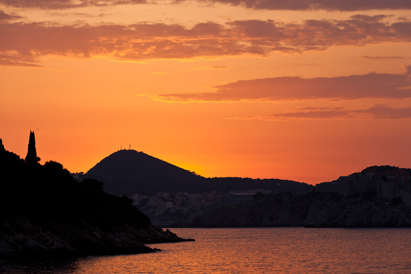 Sunset over Dubrovnik