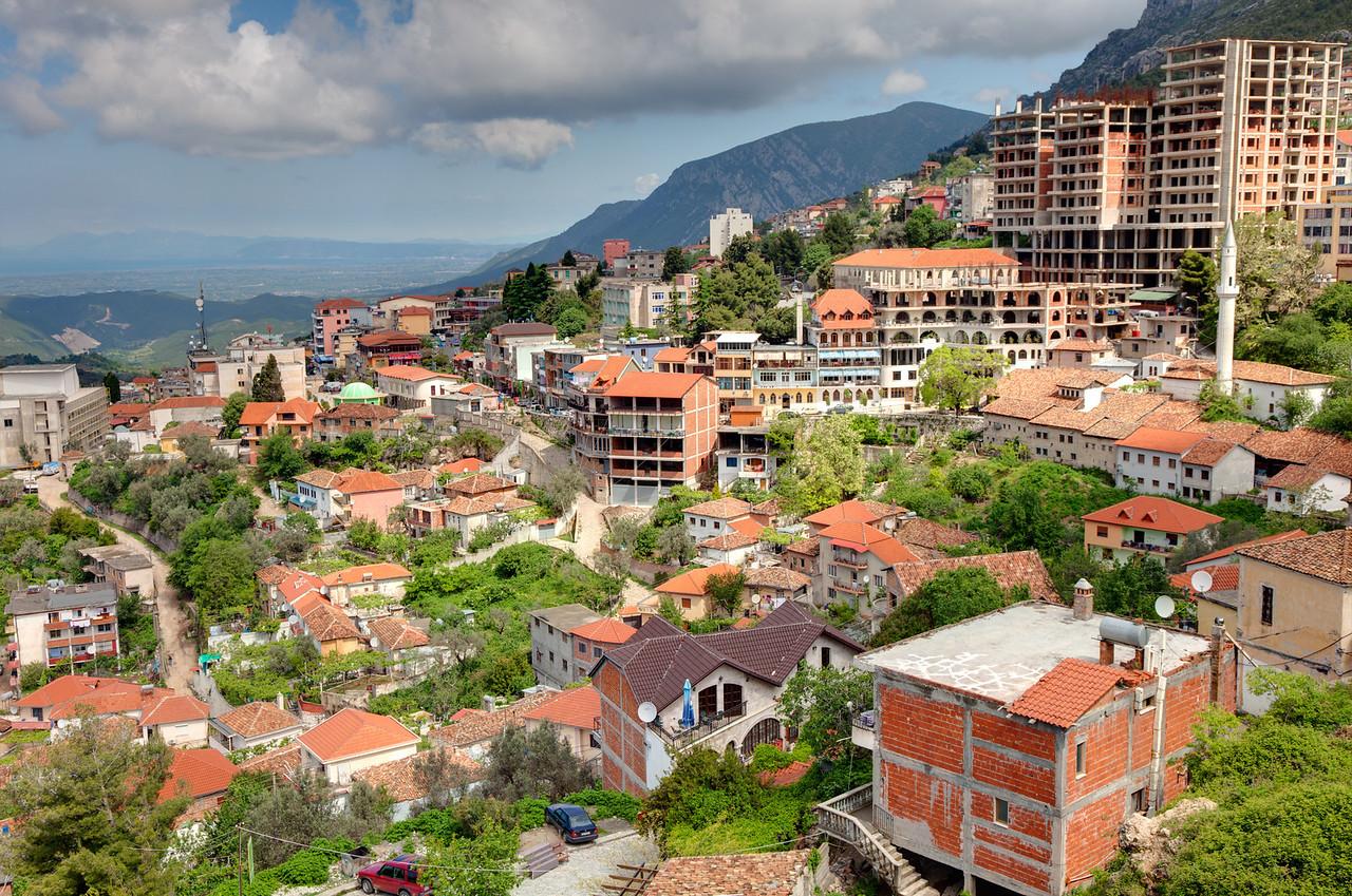 The city of Kruje, Albania