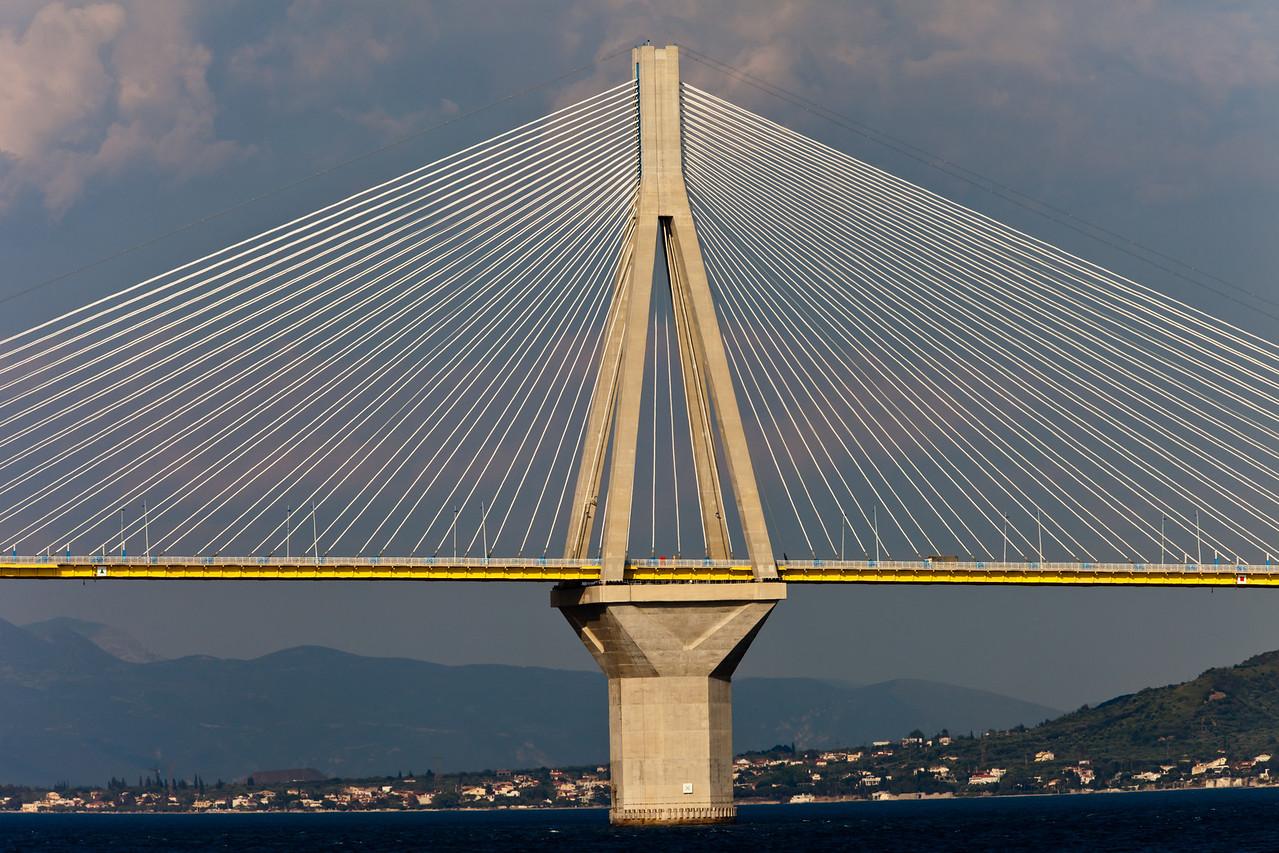 Patra Bridge crossing the Gulf of Korinth