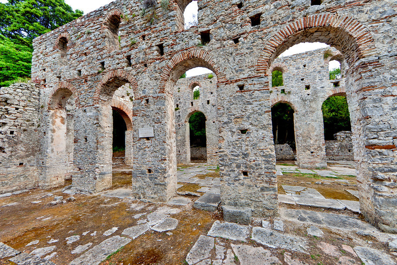 Ancient ruins of Butrint, near Sarande, Albania