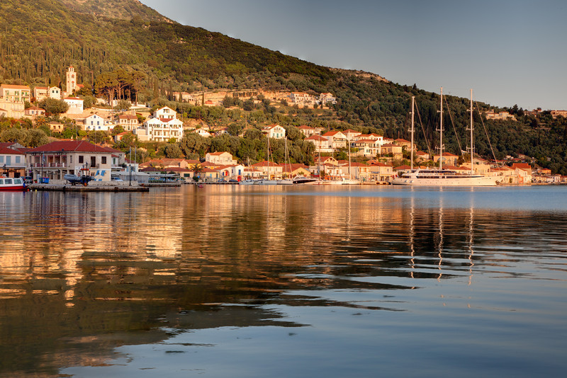 Port of Vathi on Ithaka Island