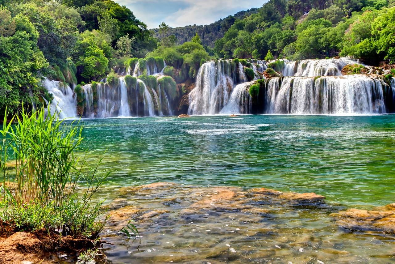 Fantastic waterfalls of Krka National Park, near Sibenik, Croatia