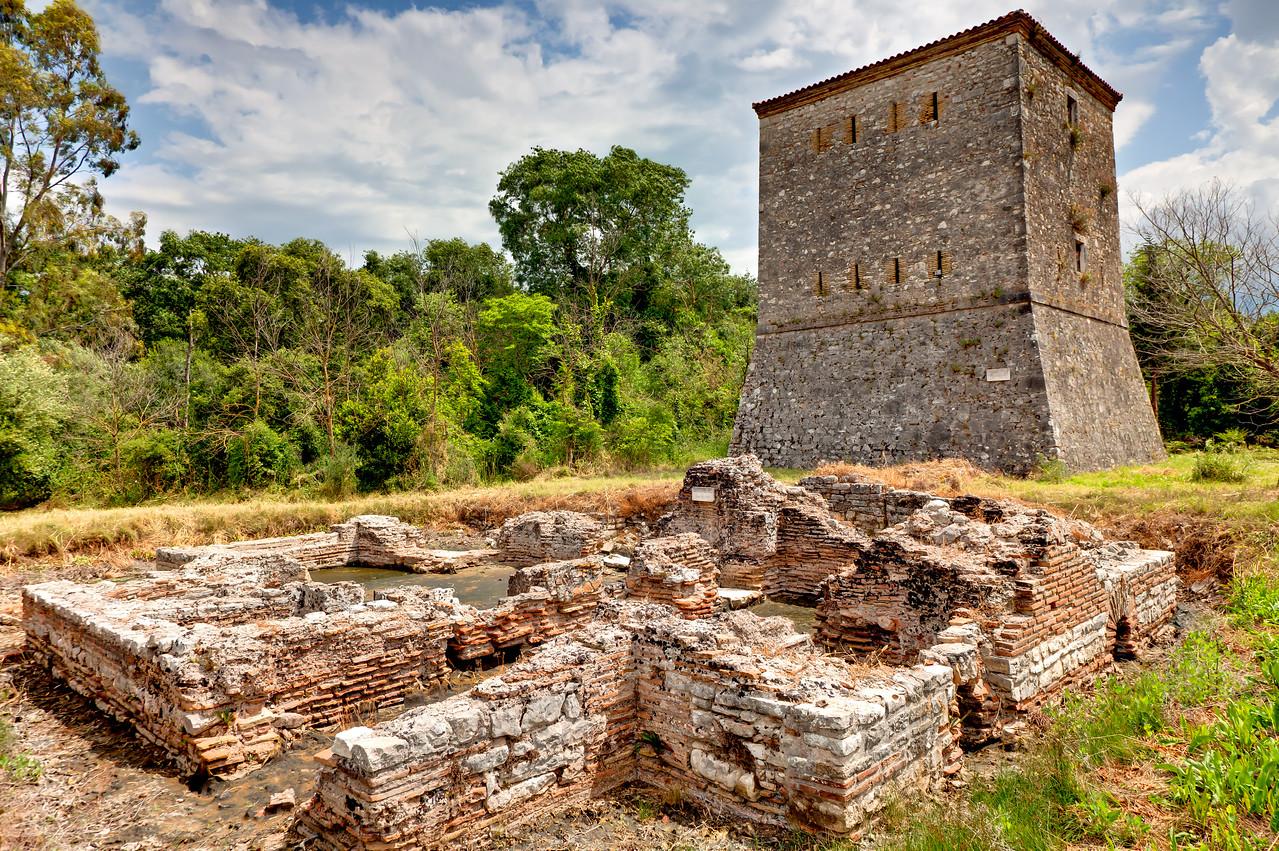 Entering the ruins of Butrint, near Sarande, Albania