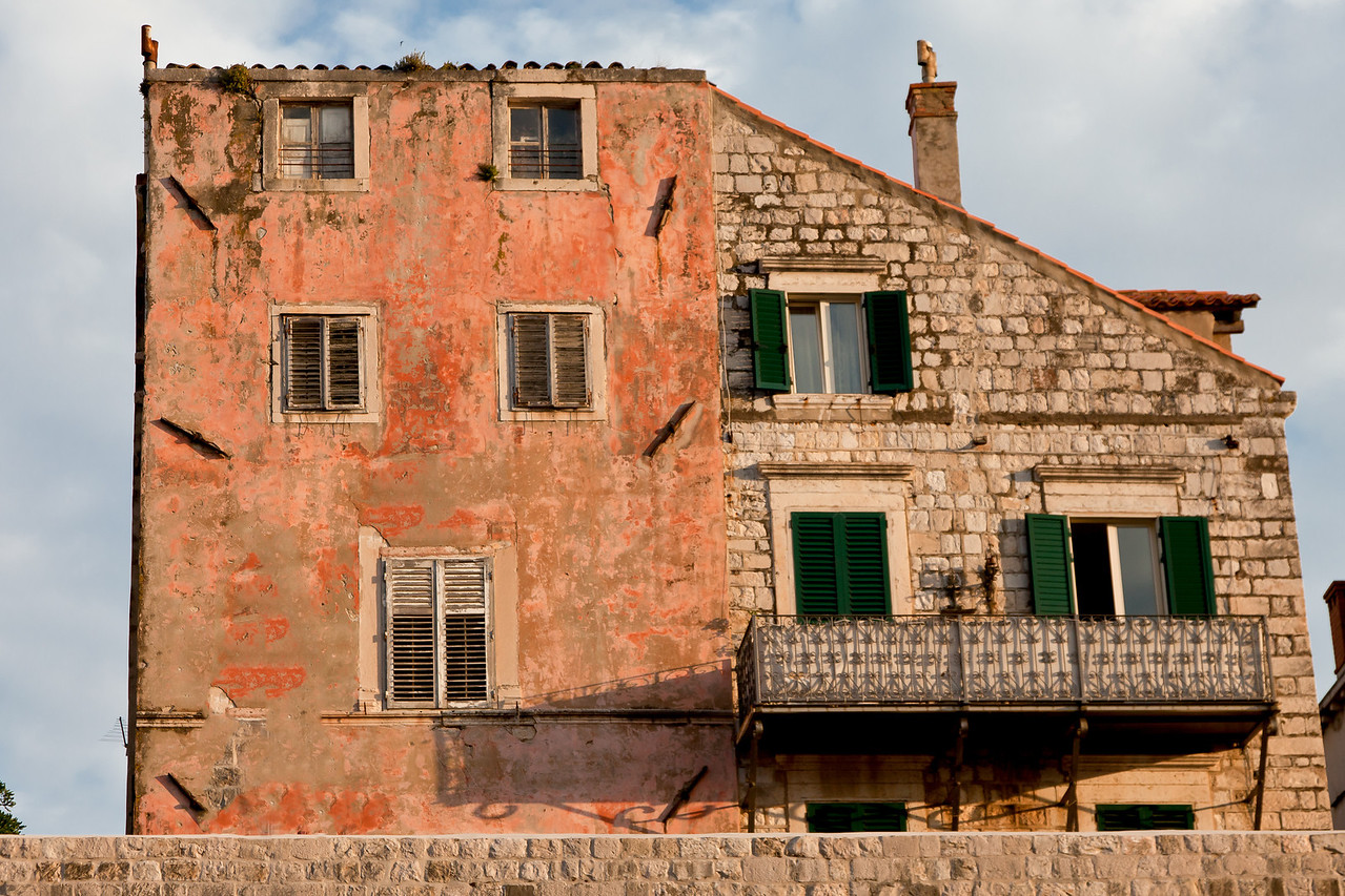 Picturesque house next to the old city port of Dubrovnik