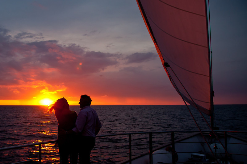 A romantic moment on the Adriatic Sea