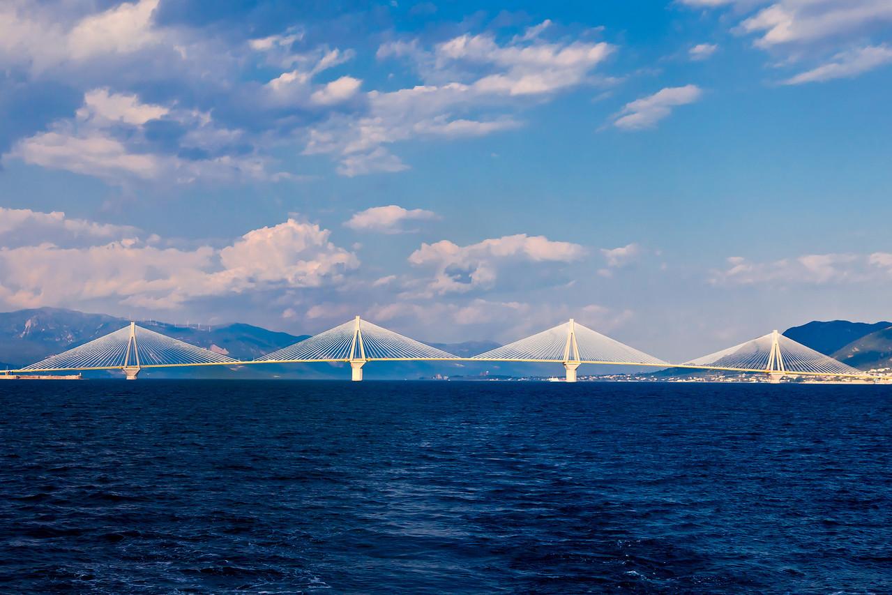 The total expanse of the Patra Bridge