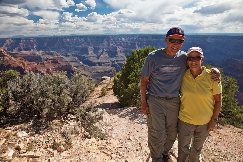 That's us enjoying the view at Point Sublime. We hope these photos encourage you to visit the North Rim of the Grand Canyon