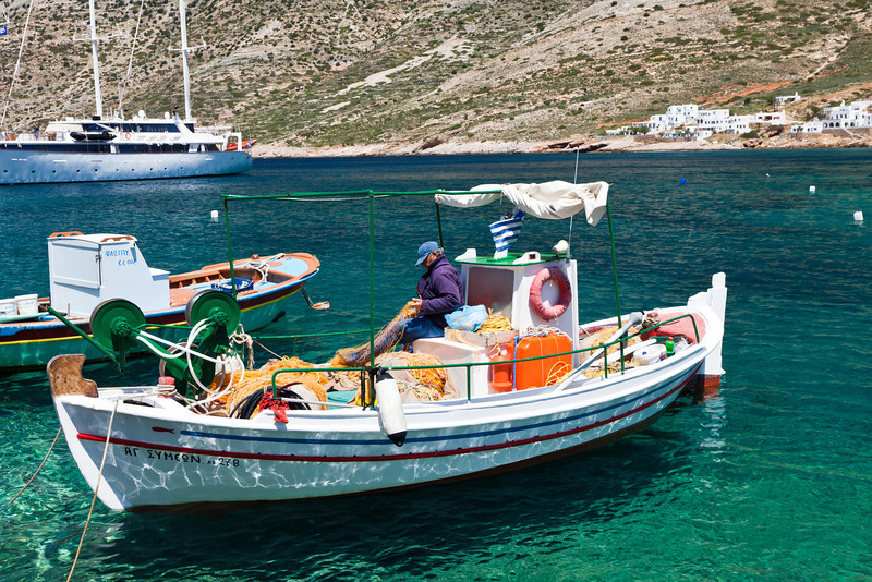 Mending the nets, Sifnos Is.