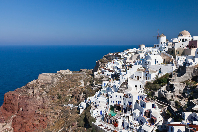 Town of Oia on Santorini Island
