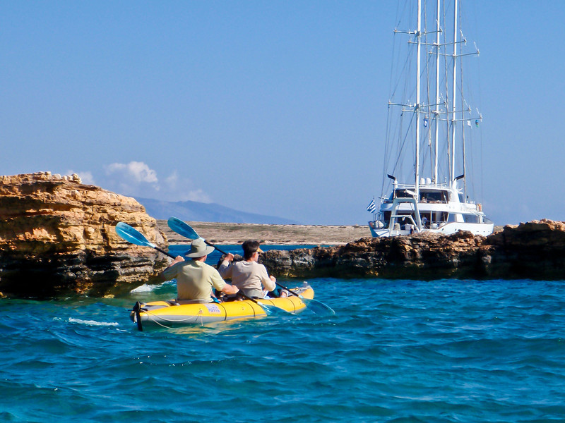 Kayaking in Koufonisia