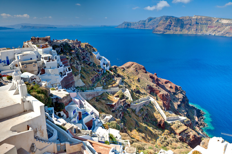 View of Oia on Santorini