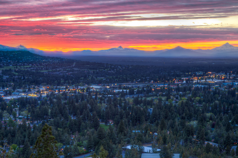 Bend Sunset Sunset Bend Oregon