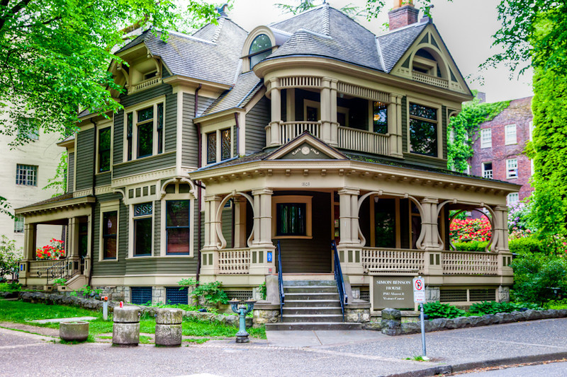 Victorian house in downtown Portland